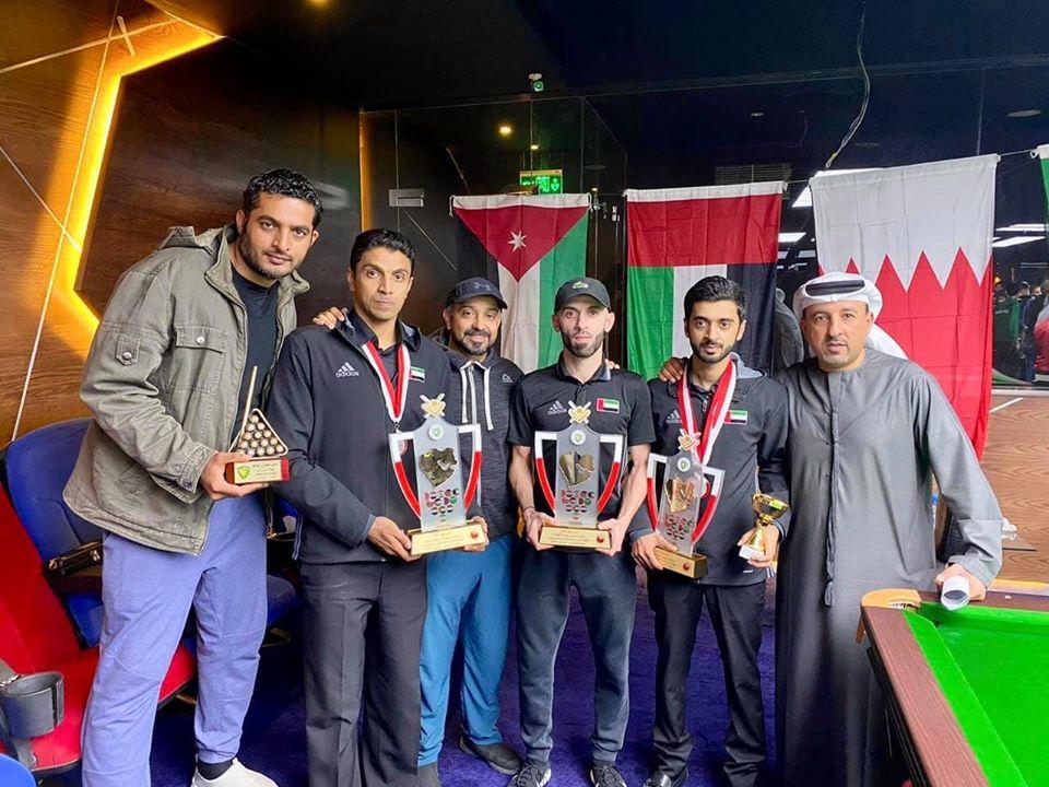 5 ميداليات للبلياردو والسنوكر في ختام بطولة «غرب آسيا»